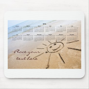 Smiley Sun On The Beach 2018 Mouse Pad