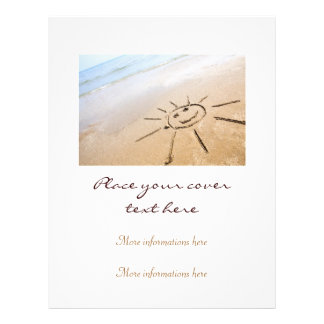 Smiley Sun On The Beach Personalized Flyer
