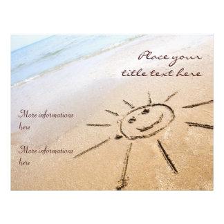 Smiley Sun On The Beach Full Colour Flyer