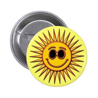SMILEY SUN PINBACK BUTTON