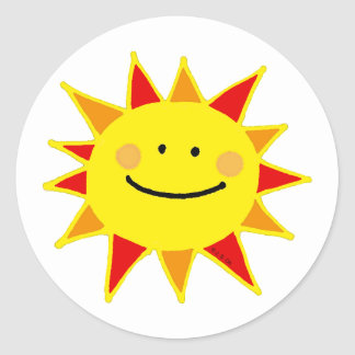 Smiley sun stickers