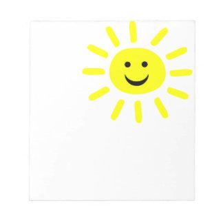 Smiley Sunshine Notepad