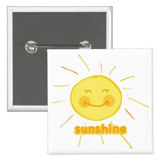 Smiley Sunshine Pinback Button