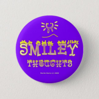 Smiley Thoughts (2b) Button/Pin Pinback Button