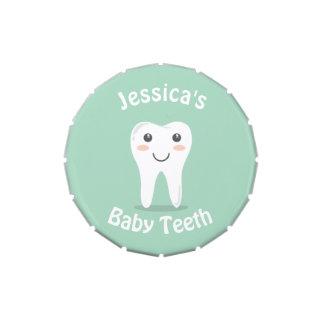 Smiley Tooth Baby Teeth keepsake Candy Tin