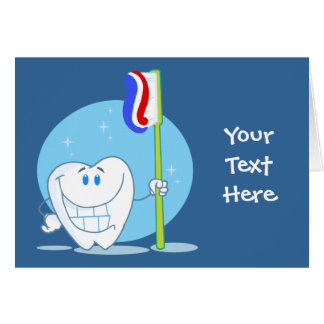 Smiley Tooth (customizable) Card