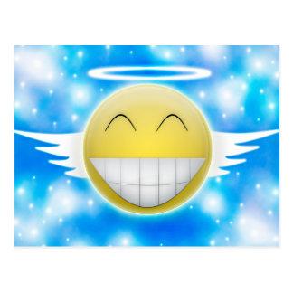 Smiley trip to heaven postcard