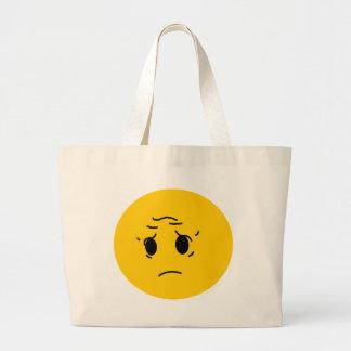 smiley triste bolsa