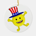 Smiley Uncle Sam Patriotic Hanging Ornament