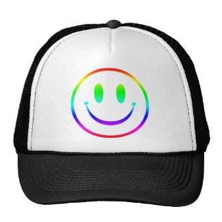 Smiley V2 del arco iris Gorras De Camionero