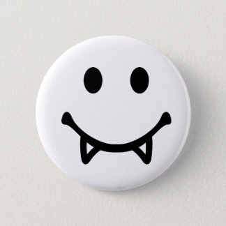 Smiley Vampire Pinback Button
