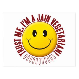 Smiley vegetariano Jain de la confianza Postal