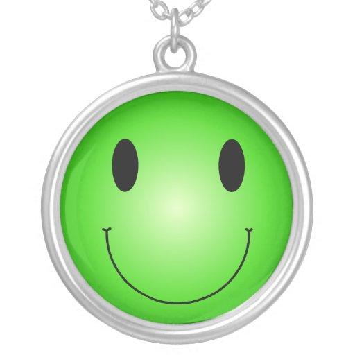 Smiley verde colgante
