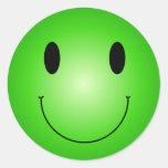 Smiley verde etiqueta