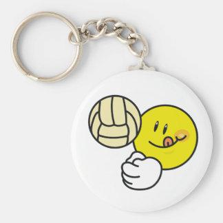 Smiley Volleyball Keychain
