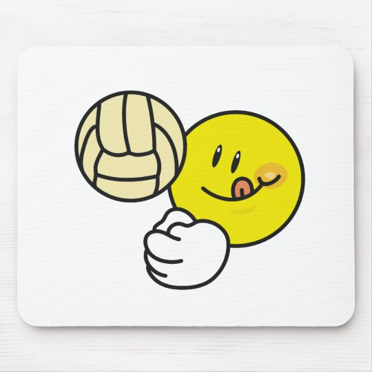 Smiley Volleyball Mouse Pad