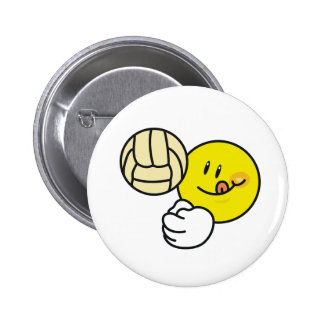 Smiley Volleyball Pinback Button