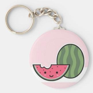 Smiley Watermelon Keychain
