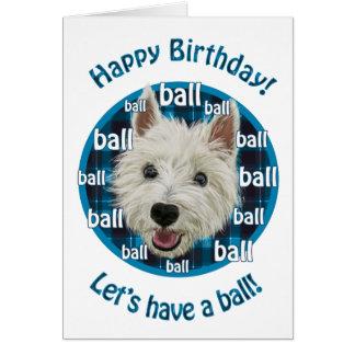Smiley Westie, Happy Birthday! Card