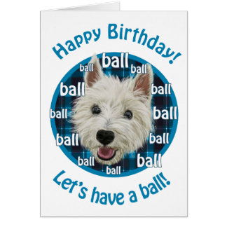 Smiley Westie Happy Birthday! Card