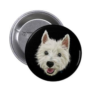 Smiley Westie Pinback Button