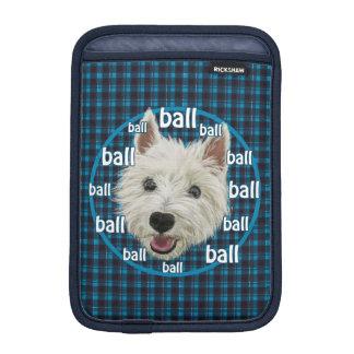 Smiley Westie wants his ball Sleeve For iPad Mini