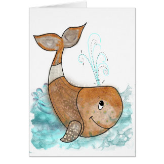 Smiley whale card