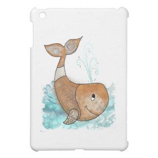 Smiley whale iPad mini cover
