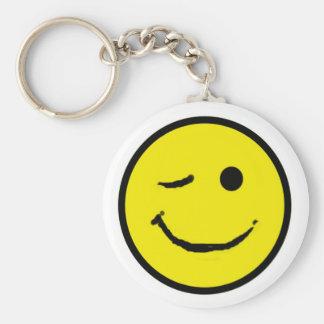 Smiley wink keychain