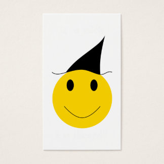 Smiley witch. Halloween t-shirts, cards and gifts.