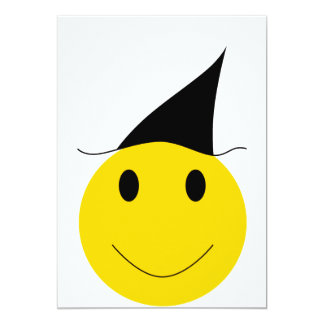 "Smiley witch. Halloween t-shirts, cards and gifts. 5"" X 7"" Invitation Card"