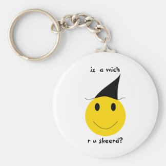 Smiley witch with LOLspeak Key Chains