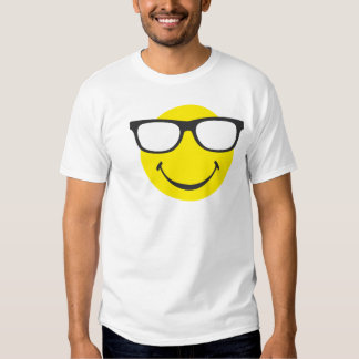 Smiley with cool eyeglasses t shirt