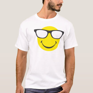 Smiley with cool eyeglasses T-Shirt