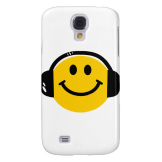 Smiley with headphones samsung galaxy s4 cases