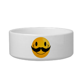 Smiley with Mustache Bowl