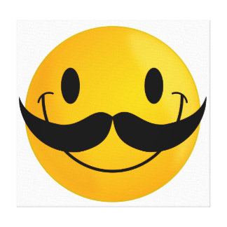 Smiley with Mustache Canvas Print