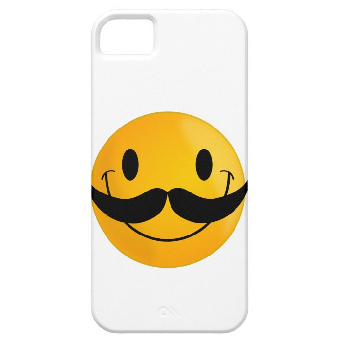 Smiley with Mustache iPhone SE/5/5s Case