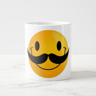 Smiley with Mustache Large Coffee Mug