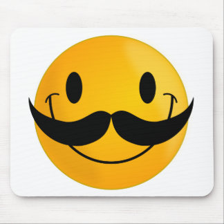 Smiley with Mustache Mousepad