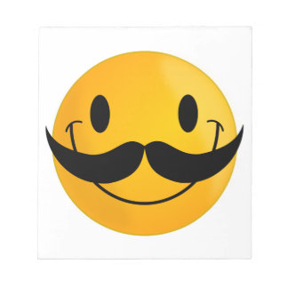 Smiley with Mustache Notepad