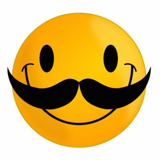 Smiley with Mustache Photo Cutout | Zazzle