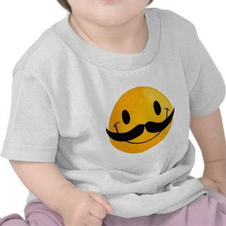 Smiley with Mustache Tshirt