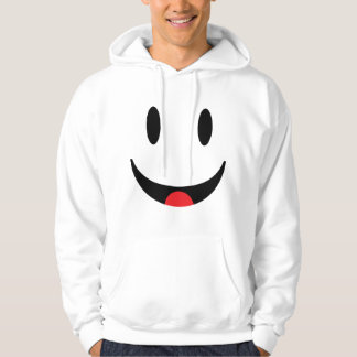 Smiley With Tongue Face Hooded Sweatshirt