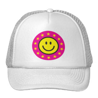 Smiley with yellow stars - pink hats