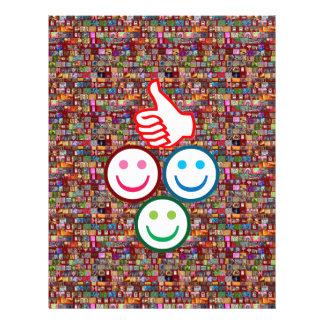 SMILEY y pulgares PARA ARRIBA: CARAS FELICES Membrete A Diseño