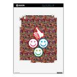 SMILEY y pulgares PARA ARRIBA: CARAS FELICES Skin Para El iPad 2