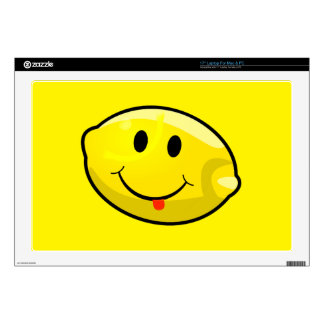 "Smiley Yellow Lemon Tongue 17"" Laptop Skin"