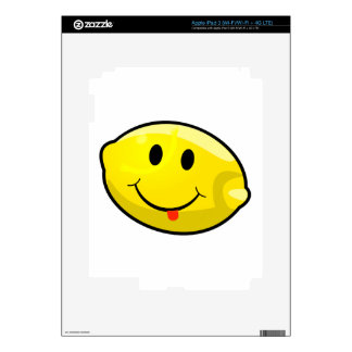 Smiley Yellow Lemon Tongue Skins For iPad 3