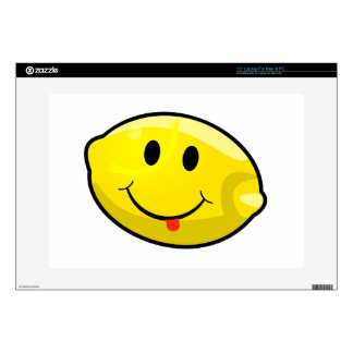 "Smiley Yellow Lemon Tongue 15"" Laptop Decal"